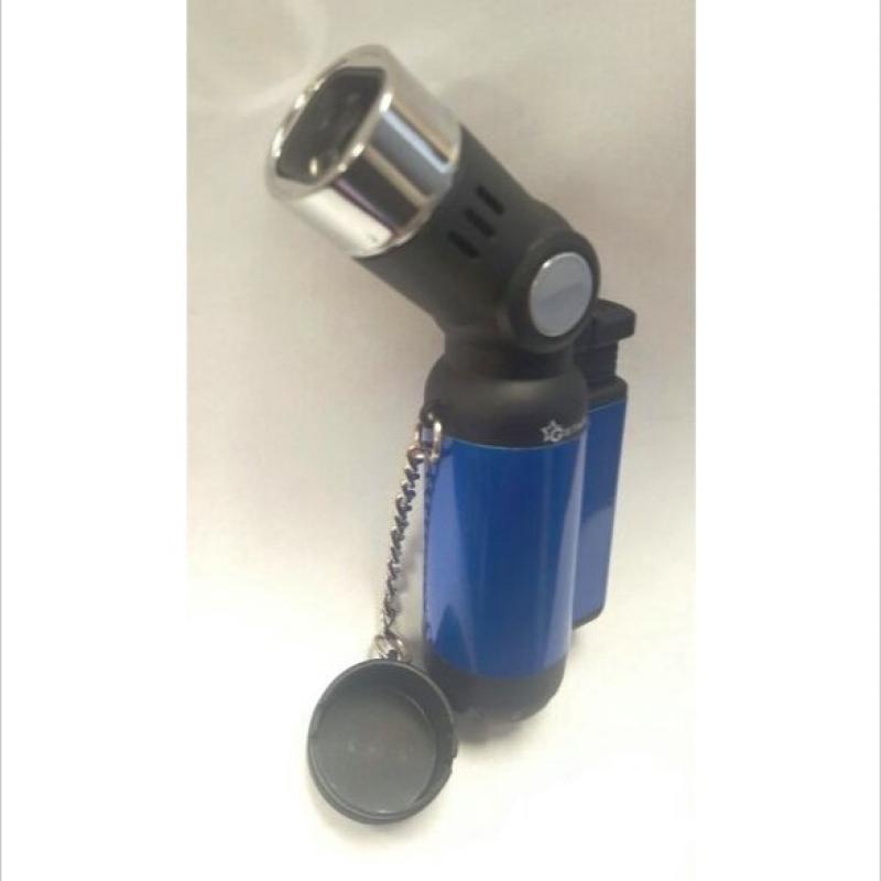 45 degree Mega 4 Torch lighter - Pit Bull Glass